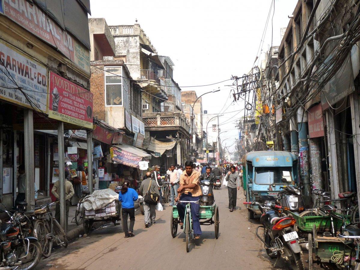 Une rue de Chandni Chowk
