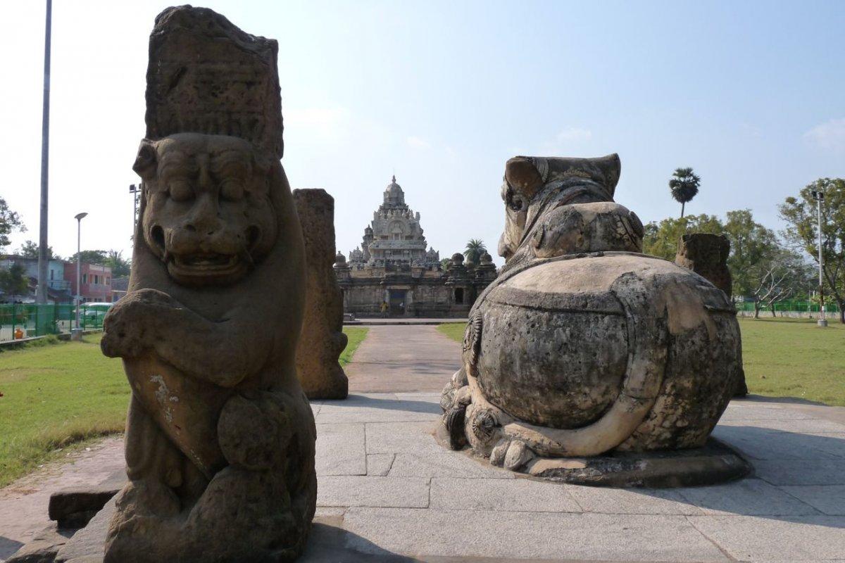 Kanchipuram - Accès au temple