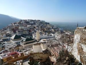 La ville de Moulay Idriss sur sa colline